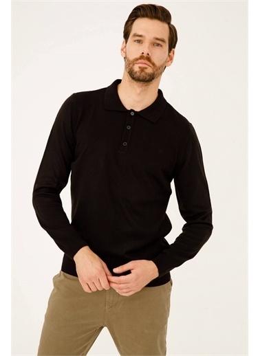 IGS Erkek Sıyah Standart Polo Yaka Trıko Siyah